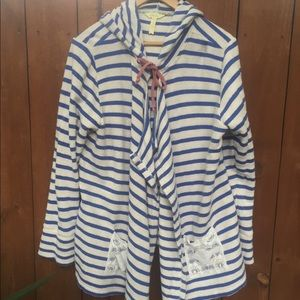 Matilda Jane Striped Hooded Midway Cardigan